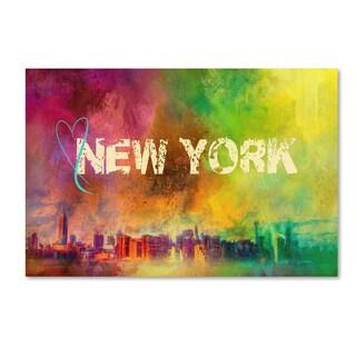 Jai Johnson 'Sending Love To New York' Canvas Art