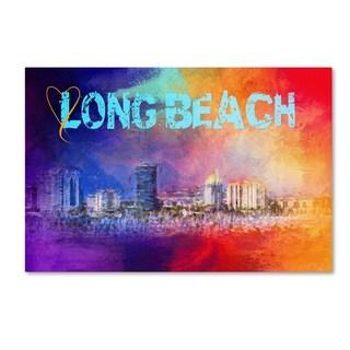 Jai Johnson 'Sending Love To Long Beach' Canvas Art
