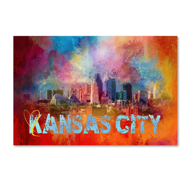 Shop Jai Johnson Sending Love To Kansas City Canvas Art
