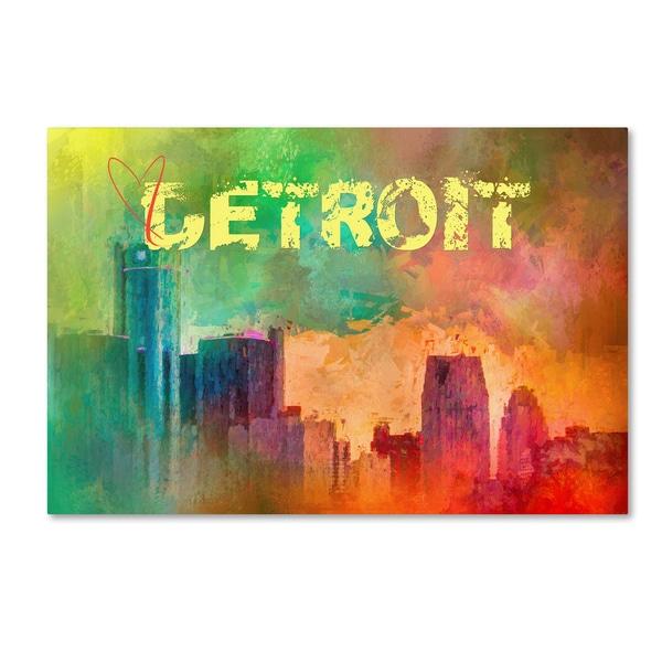 Jai Johnson 'Sending Love To Detroit' Canvas Art