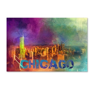 Jai Johnson 'Sending Love To Chicago' Canvas Art