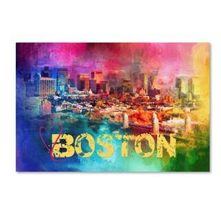 Jai Johnson 'Sending Love To Boston' Canvas Art