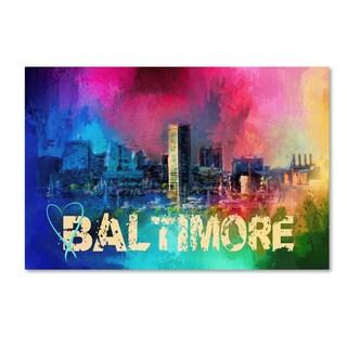 Jai Johnson 'Sending Love To Baltimore' Canvas Art