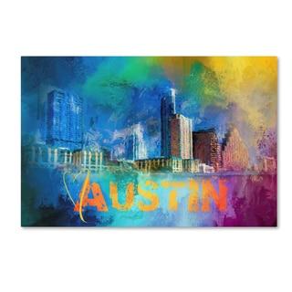 Jai Johnson 'Sending Love To Austin' Canvas Art