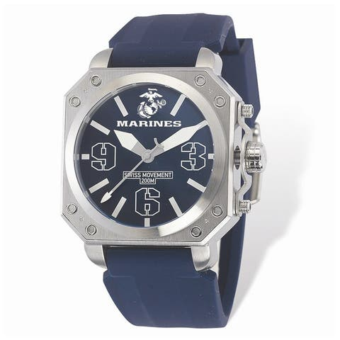 US Marines Wrist Armor C4 Blue and Blue Rubber Strap Watch