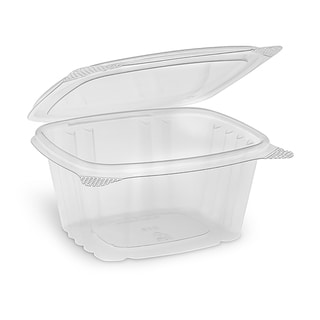 ePackageSupply 16 oz. Disposable Plastic Deli Storage Container with Hinged Lid
