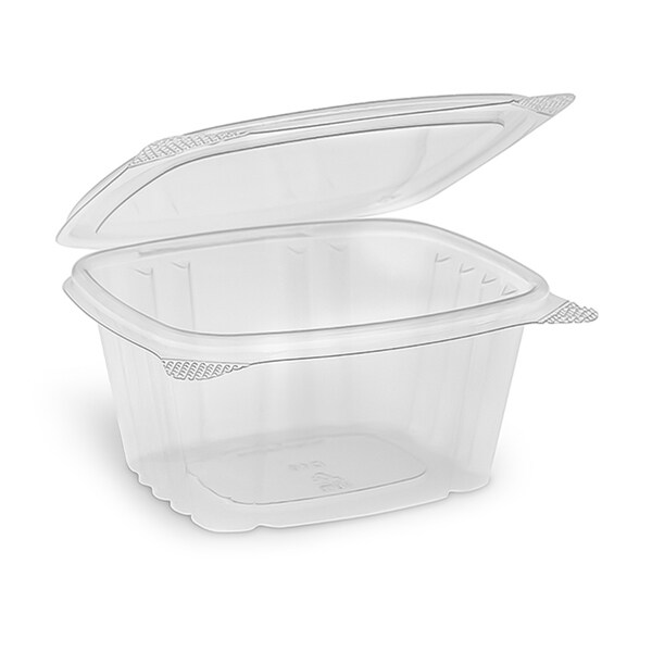 Disposable Plastic Deli Storage Container With Hinged Lid