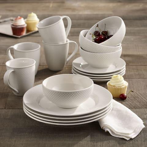 Elle Decor Chloe Porcelain 16PC Dinnerware Set