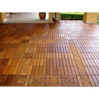 EcoDeck 10 sq ft Ipe Wood Flooring and Decking Tiles (Pack of 10) (As Is Item)