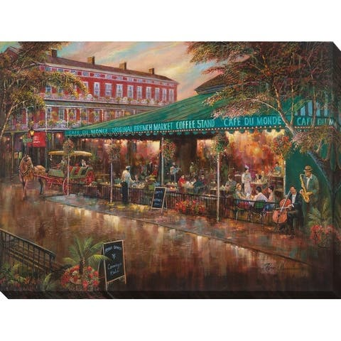 """Cafe Du Monde"" Giclee Stretched Canvas Wall Art"