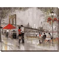 """""""New York Romance"""" Giclee Stretched Canvas Wall Art"""