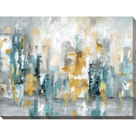 """""""City Views II"""" Giclee Stretched Canvas Wall Art"""