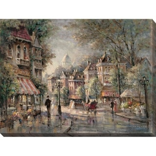 """French Street Scene II"" Giclee Stretched Canvas Wall Art"