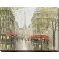 """Impression of Paris"" Giclee Stretched Canvas Wall Art"
