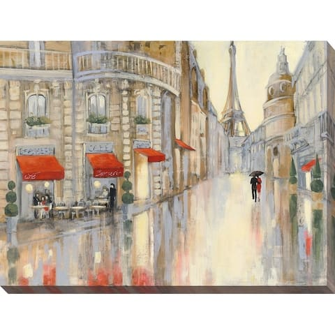"""""""Touring Paris Couple"""" Giclee Stretched Canvas Wall Art"""