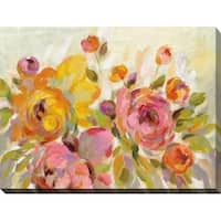 Brushy Peonies' Giclee Stretched Canvas Wall Art