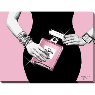 BY Jodi 'Go pink 2' Giclee Stretched Canvas Wall Art