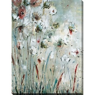 Night Flowers' Giclee Stretched Canvas Wall Art