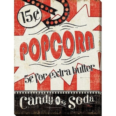 """""""Popcorn"""" Giclee Stretched Canvas Wall Art"""