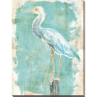 """Coastal Egret II v2"" Giclee Stretched Canvas Wall Art"