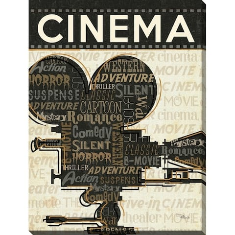 """""""Cinema"""" Giclee Stretched Canvas Wall Art"""