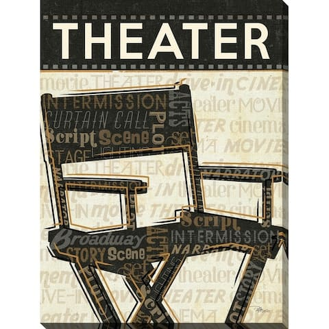 """""""Theater"""" Giclee Stretched Canvas Wall Art"""