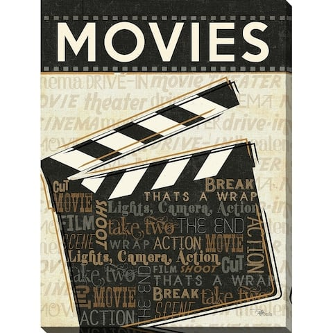 """""""Movies"""" Giclee Stretched Canvas Wall Art"""