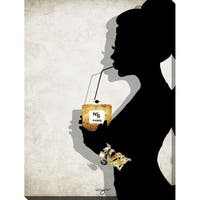 """BY Jodi """"Just a sip"""" Giclee Stretched Canvas Wall Art"""