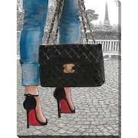 """BY Jodi """"Paris park"""" Giclee Stretched Canvas Wall Art"""