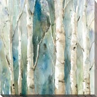 River Birch I' Giclee Stretched Canvas Wall Art