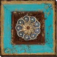 """Exotic Medallion I"" Giclee Stretched Canvas Wall Art"