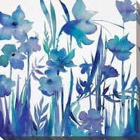 """""""Afternoon Indigo I"""" Giclee Stretched Canvas Wall Art"""