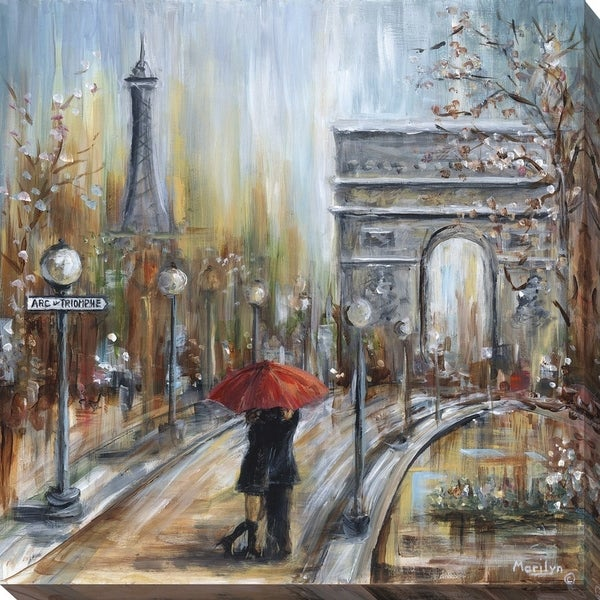 """""""Embrace by the Arc"""" Giclee Stretched Canvas Wall Art"""