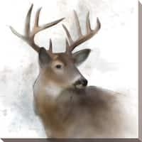Rainsoft Deer' Giclee Stretched Canvas Wall Art