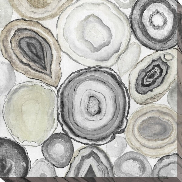 """Geode Halves I"" Giclee Stretched Canvas Wall Art"