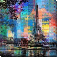 """PPI Studio """"PARIS"""" Giclee Stretched Canvas Wall Art"""