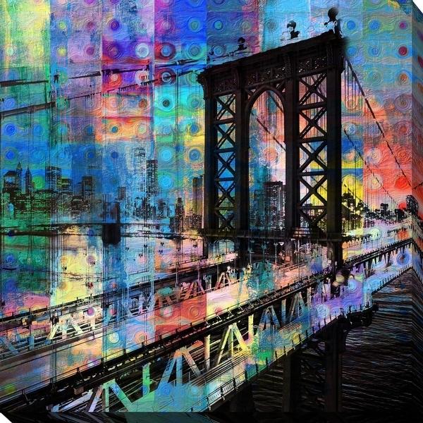 "PPI Studio ""Brooklyn Bridge"" Giclee Stretched Canvas Wall Art"