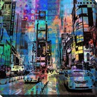 """PPI Studio """"TIMES SQUARE"""" Giclee Stretched Canvas Wall Art"""