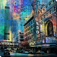 """PPI Studio """"Chicago"""" Giclee Stretched Canvas Wall Art"""