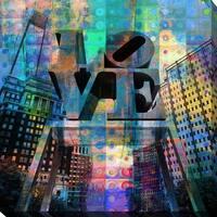 "PPI Studio ""LOVE, Philadelphia"" Giclee Stretched Canvas Wall Art"