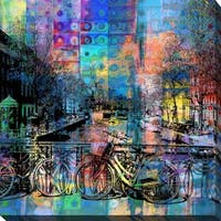"""PPI Studio """"Amsterdam"""" Giclee Stretched Canvas Wall Art"""