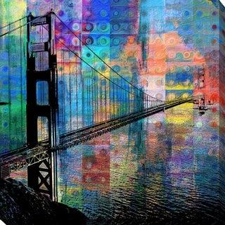 PPI Studio 'Golden Gate Bridge' Giclee Stretched Canvas Wall Art
