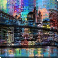 """PPI Studio """"Manhattan"""" Giclee Stretched Canvas Wall Art"""