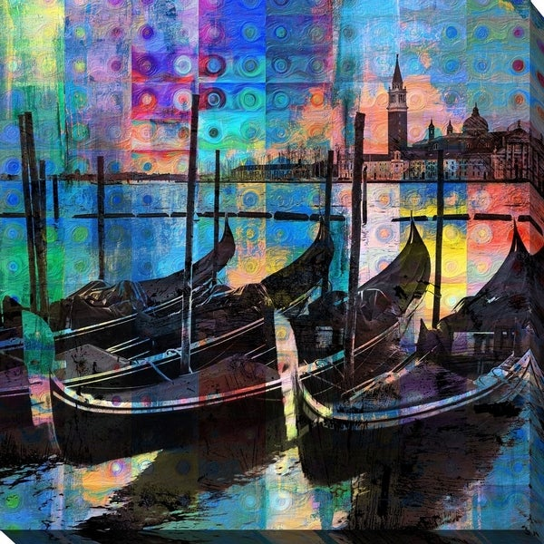 PPI Studio 'GONDOLAS' Giclee Stretched Canvas Wall Art