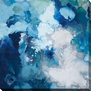 Blue Flo' Giclee Stretched Canvas Wall Art