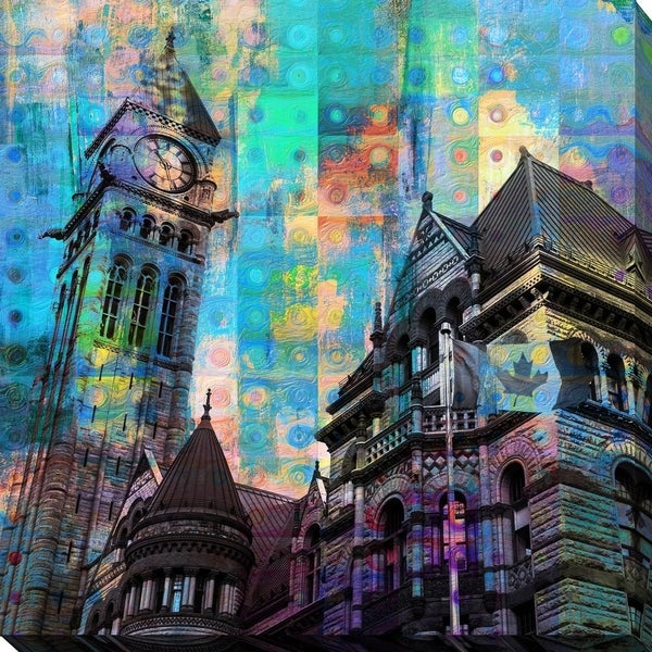 """PPI Studio """"Old City Hall, Toronto"""" Giclee Stretched Canvas Wall Art"""