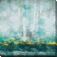 """Aqua Blu"" Giclee Stretched Canvas Wall Art"