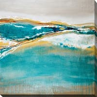 """""""Aqua Quartz"""" Giclee Stretched Canvas Wall Art"""