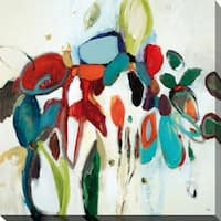 """""""Floral Hints"""" Giclee Stretched Canvas Wall Art"""