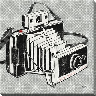 """Vintage Analog Camera"" Giclee Stretched Canvas Wall Art"
